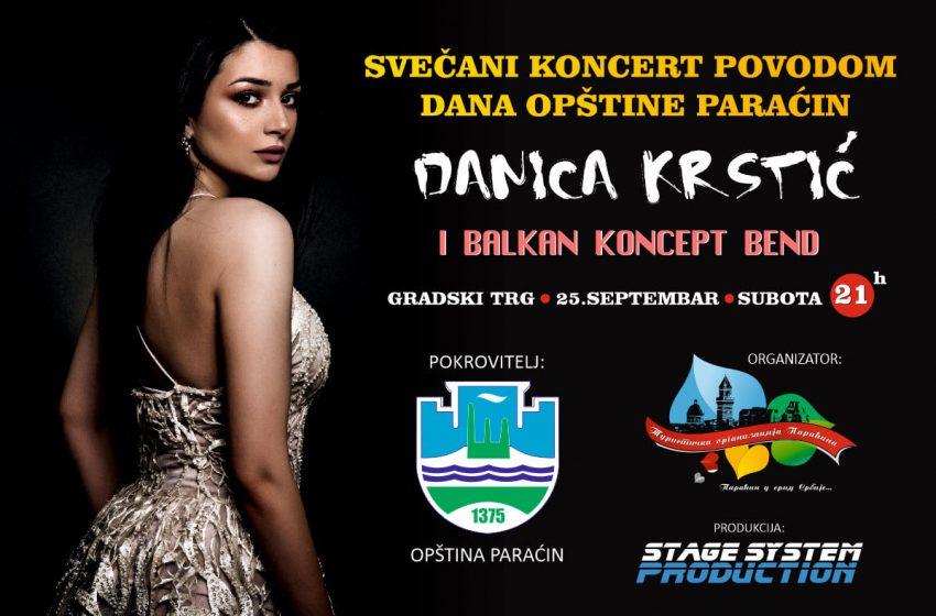 Koncert Danice Krstić na gradskom trgu